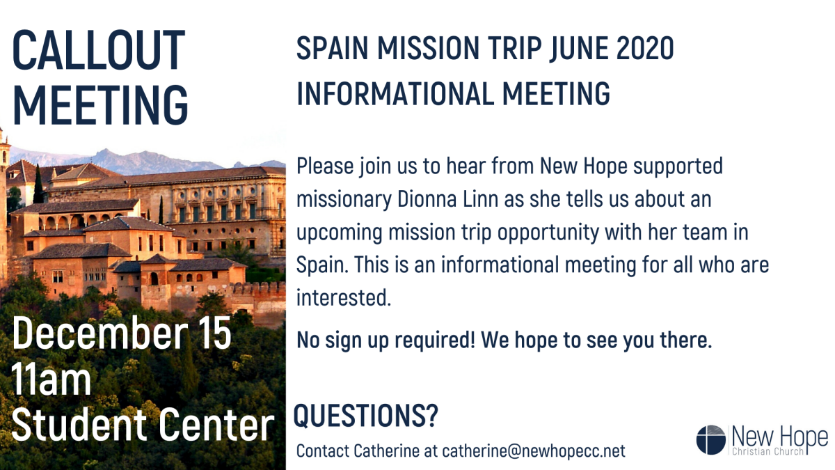 Spain Mission Trip Callout Meeting
